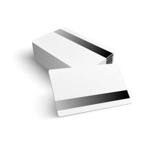 Cartões PVC Branco CR-80 com tarja magnética
