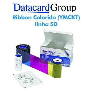 Ribbon Colorido de 250 impressões (YMCKT)  para impressoras SD160 e SD260