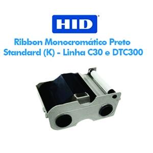 Ribbon Fargo Monocromático Preto Standard (K) - Linha C30 e DTC300