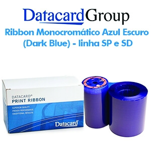 Ribbon Monocromático Azul Escuro (Dark Blue) - Linhas SP e SD