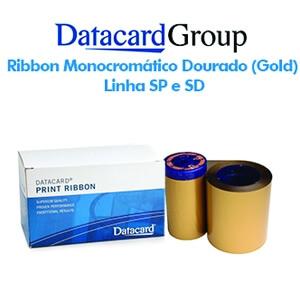 Ribbon Monocromático Dourado Metálico (Gold) - Linhas SP e SD