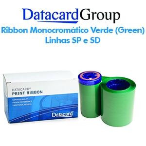 Ribbon Monocromático Verde (Green) - Linhas SP e SD